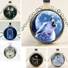 UK WOLF PENDANT NECKLACE Silver Jewellery Gift Idea Animal Howling Werewolf