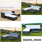 Rattan Garden Sofa Furniture Set Patio Conservatory 4 Seater Beach Sofabed Unit