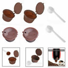 4 x Refillable reusable coffee capsules pod for Dolce Gusto machine + 2 Spoons