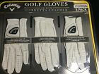Callaway Golf Gloves Premium Cabretta Leather 3 Pack for Left Hand Small Med M-L