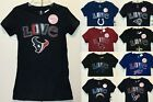 New NFL GIRLS T-shirt Love Football Girl's Tee Shirt Kids - Choose 1 $8.99 USD on eBay