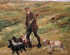 Hunter in the dunes by German Max Liebermann. Animals Repro on Canvas or Paper