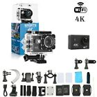 Action Camera 4K WiFi Waterproof DV Sports Go Pro Cam Underwater Camcorder KIT