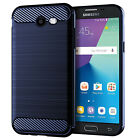 For Samsung Galaxy So12 Protective Case Brushed Carbon Fiber Silicone Anti-fall