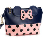 Cute MINNIE MICKEY MOUSE Polka Dots Travel Cosmetic Make Up Clutch Bag Handbag