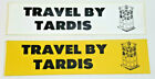 """1980s """"Travel by TARDIS"""" Doctor Who Bumper Sticker —> Your Choice of Color"""