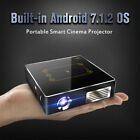 Mini Projector Smart Touchpad Android 7.1 Dual  WIFI 4K HDMI Home Cinema Beamer