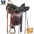 Western Horse Wade Saddle Leather Ranch Roping Dark Brown U-60DB for sale  Shipping to Canada