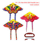 1Set 90*50CM outdoor sports butterfly flying kite children toy with handle line>