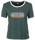 "Внешний вид - SANTA CRUZ Skateboards Womens ""Woodstock"" Ringer Fern Green T-Shirt"
