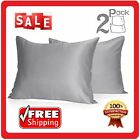 Muama Silk Satin Pillowcases 2 Pack Silky Pillow Cases Covers for Hair and Skin image