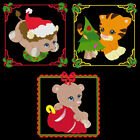 CHRISTMAS BABY ANIMALS -5inch-10 Machine Embroidery DesignsCD (FREE SHIPPING)