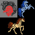 COLORFUL TRIBAL HORSES - 5inch-10 Machine Embroidery Designs CD (FREE SHIPPING)