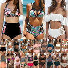 High Waisted Bikini Set Womens Ladies Swimsuit Swimwear Padded Push-up Beachwear