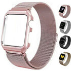Metal Bracelet Strap Milanese Band + Case For Apple Watch 42mm 38mm Series 3 2 1 image