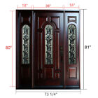 Single Double Solid Wood Mahogany Front Entry Door Pre-Hung & Finished