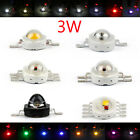 3W LED RGB Infra Beads Lamp Diodes High Power Chip Light Multi Color K