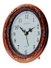 ANTIQUE DARK ROSE GOLD COPPERISH FINISH STYLE OVAL  ANALOG CLOCK WITH WHITE DIAL