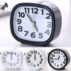 Quartz Non Ticking Alarm Clock Home Office Travel Snooze Silent Clock Analogue