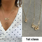 Personalised Initial Name Alphabet Letter Necklace Silver Gold Plated A To Z