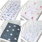 120*65cm Soft Breathable Newborn Baby Crib Fitted Sheet Baby Bed Mattress Cover