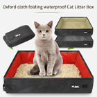 Portable Travel Foldable Cat Litter Box Pan Outdoor Pet Toilet Carrier Boxes
