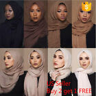 Kyпить 6x3 FT Cotton Women Viscose Maxi Crinkle Cloud Hijab Scarf Shawl Islam Muslim на еВаy.соm