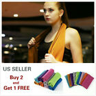 Instant Ice Cooling Towel Pads Sports Workout Fitness Gym Yoga Hiking Pilates image