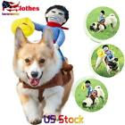 Funny Cute Pet Dog Riding Horse Rodeo Cowboy Costume Halloween Party Clothes New
