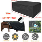 Large Garden Rattan Outdoor Furniture Cover Patio Table Protection Black