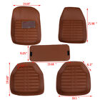 5Pcs/set universal car auto floor mats floor liner pu leather carpets FE  TDC