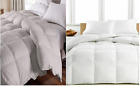 100 Egyptian Cotton 1200 TC Luxury  Comforter Siberian Goose Down White  Gray