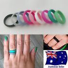 1pc Silicone Rubber Unisex 5.5mm Wedding Ring Flexible Band Sport Gym Safe Work