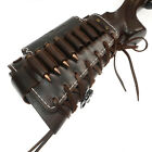 Leather Rifle Shell Holder, Gun Buttstock Ammo Holder Cheek Rest with 1in Sling, used for sale  Shipping to South Africa