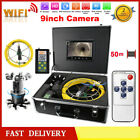 "9"" TFT LCD WIFI 360° Rotating 800 TVL HD Video Camera Pipe Inspection Endoscope"