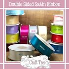 Double Faced Satin Ribbon 6mm 12mm 25mm 38mm 50mm width cut / sample lengths