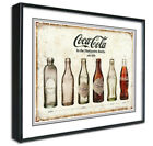 Coca Cola Framed Canvas Art Print Poster, Retro Vintage, Diner Cafe Bar A4 A3 £12.99  on eBay