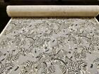 "Waverly Zebra Linen Screen Print ""Herd Together Ore"" 56"" Wide Fabric By the Yard"