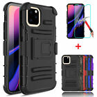 For iPhone 11 Pro Max Armor Holster Belt Clip Defender Case+Screen Protector