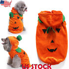 Pet Dog Funny Costume Clothes Halloween Pumpkin Hooded Chihuahua Jumpsuit Jacket