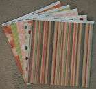 Bo Bunny 12x12 Scrapbook Paper Olivia Stripe Dot Cashmere Honeydew 2 sheets
