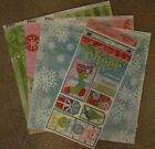 Bo Bunny 12x12 Scrapbook Paper Holiday Cheer Frost Swirly Wirly Sticker 2 sheets