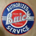 BUICK CARS AUTHORIZED SERVICE VINTAGE PORCELAIN SIGN 30 INCHES ROUND