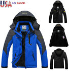Men's Winter Windproof Coat Ski Jacket Snow Thick Hooded Parka Warm Waterproof