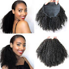 Afro Kinky Curly human hair ponytail extensions drawstring human hair Pony tail