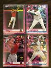 "2019 TOPPS CHROME #1-204 PINK Refractors ""YOU PICK"" COMPLETE YOUR SETBaseball Cards - 213"