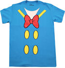 DONALD DUCK OUTFIT T-SHIRT BLUE DISNEY MENS DISNEYLAND RETRO CARTOON TEE RARE image