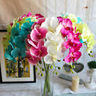 Artificial Butterfly Orchid Silk Floral Flower Stem Party Wedding Home Decor Pro
