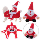 Pet Christmas Costumes Santa Claus Riding Equipment Dog Clothes Party Clothing -