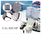 5-300 HP Black/Gray Boat Outboard Motor Engine Cover Black Universal Trailerable image